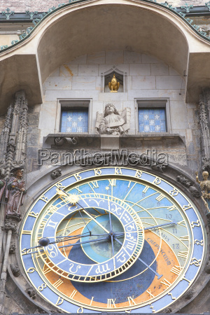 prague astronomical clock orloj on old