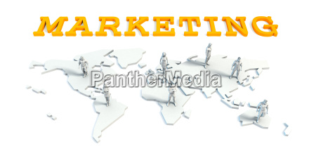 marketing concept with business team