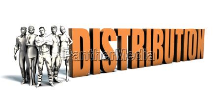 business people distribution art