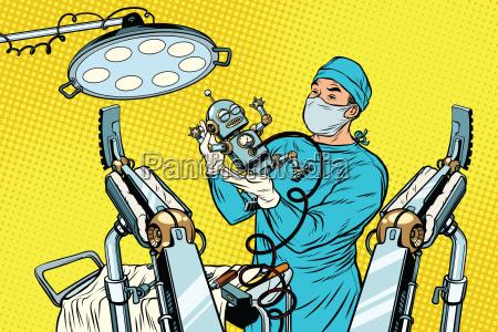 birth newborn robot an obstetrician in