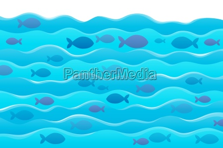 water and fish silhouettes image 1