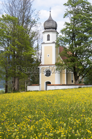 margarethen church at walchensee bavaria