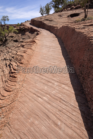 trail carved in the sandstone