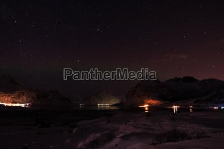 night sky in winter in norway