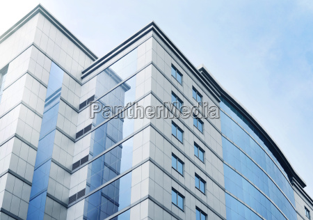 windows of business office building with