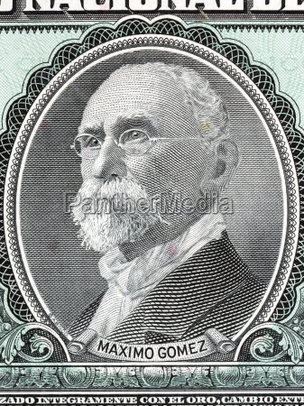 maximo gomez portrait from cuban money