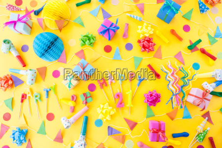colorful birthday party accessories