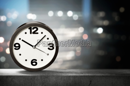 one black clock on the low