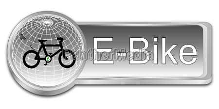 silver e bike button 3d