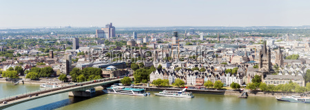 cologne aerial panorama
