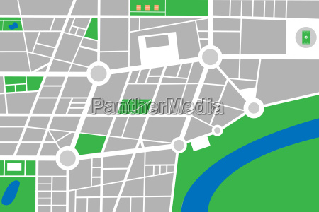 city small abstract town map vector