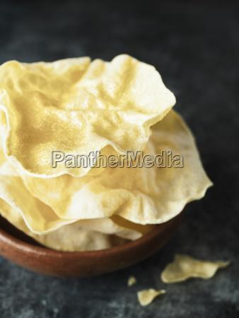 rustic indian papadum crisp
