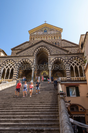 stairs to amalfi cathedral in italy
