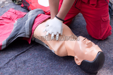 first aid training concept cpr
