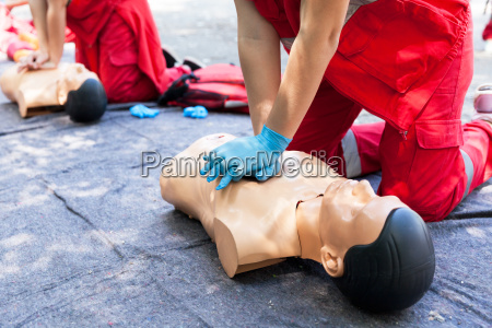 cpr first aid training concept cardiac
