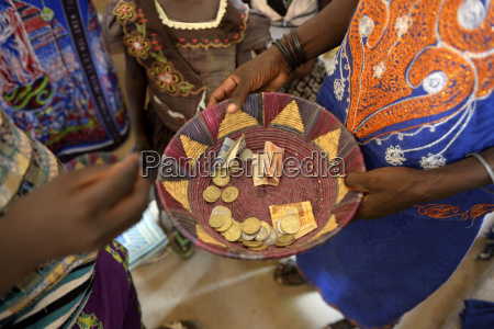 burkina faso collection during a mass