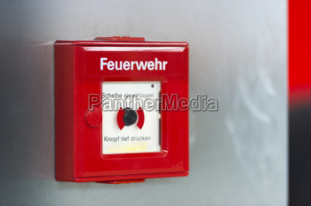 fire alarm at wall