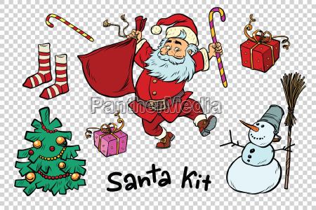kit santa set christmas new year