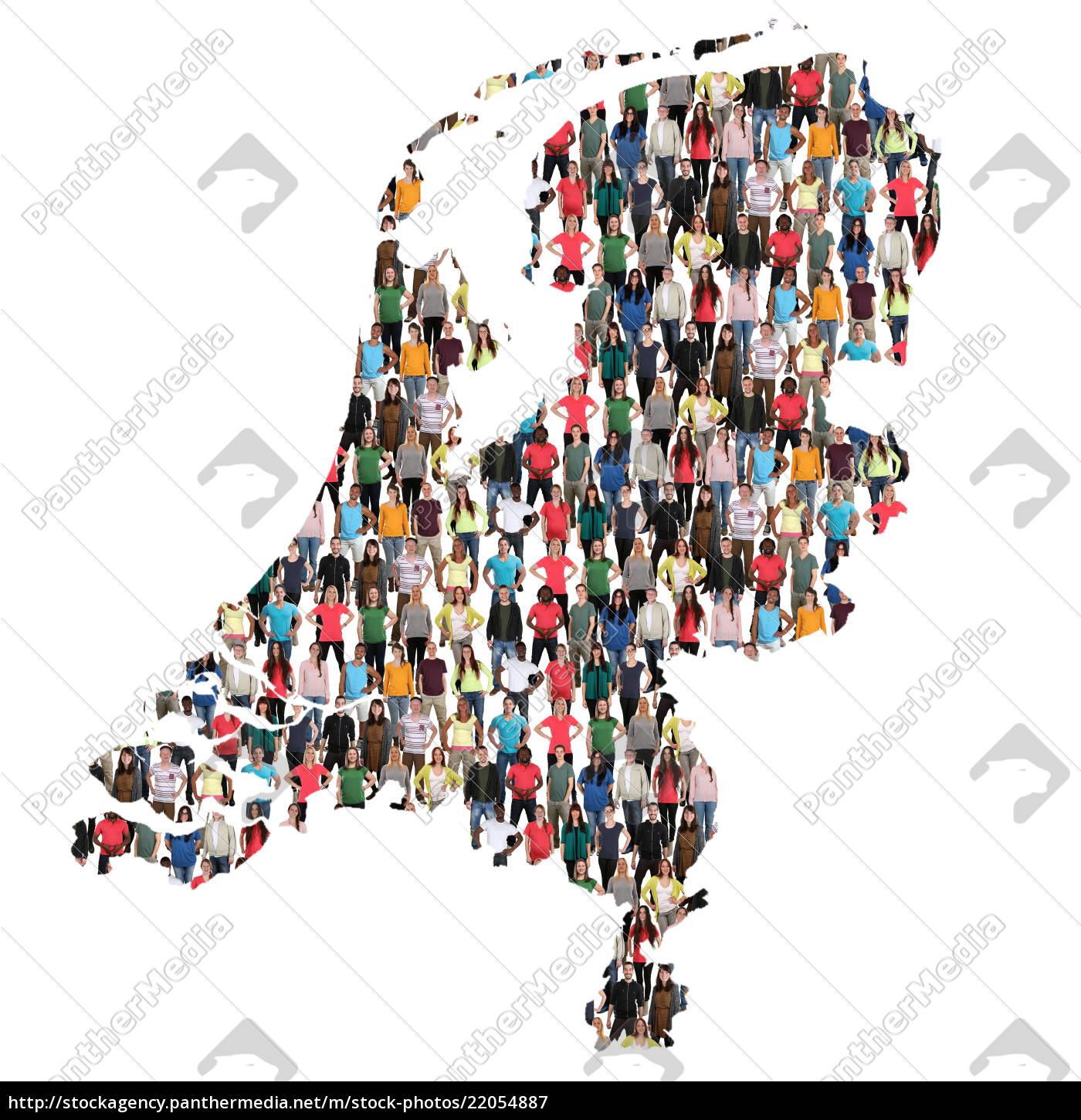 Royalty free image 22054887 - netherlands holland map people people people  group people