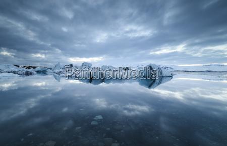 iceland jokulsarlon glacial lake with ice