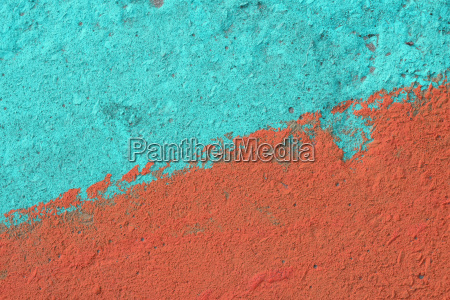 blue and orange painted concrete wall