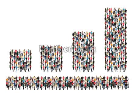 diagram business bars people group people