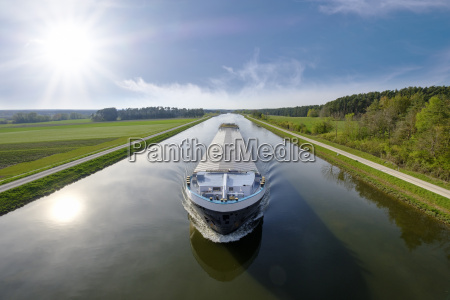 germany central franconia cargo ship on