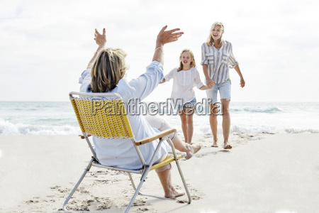 mother daughter and grandma spending a