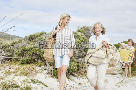 mother daughter and grandmother spending a