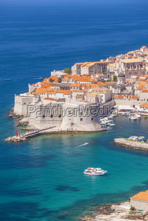 aerial view of old port and