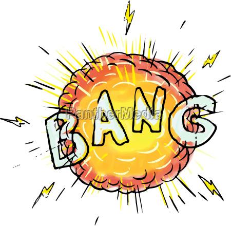 explosion bang cartoon
