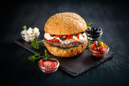 burger with beef patty