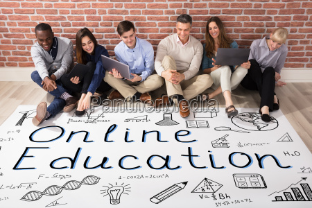 people looking at online education plan