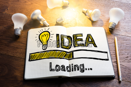 idea loading concept on notebook