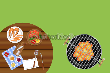 ready to grill concept
