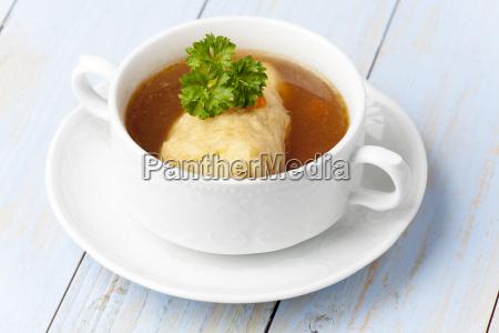 bavarian griesnockerl soup