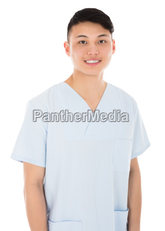 happy young male doctor