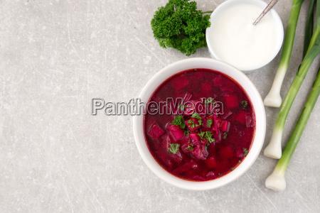 borsch beetroot soup ukrainian and