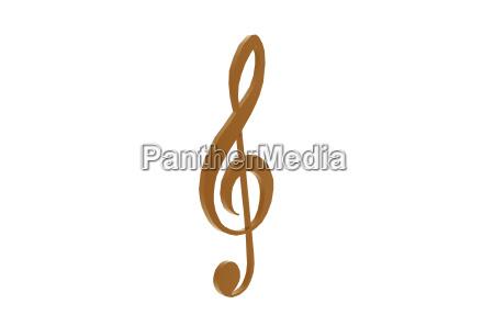 isolated treble clef