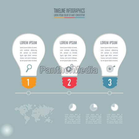 lightbulb creative concept for infographic timeline