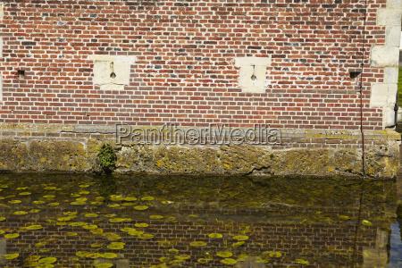 moated castle raesfeld germany wall