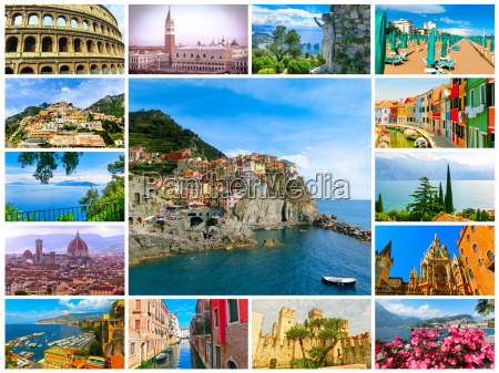 collage, from, photos, of, italy - 22121597