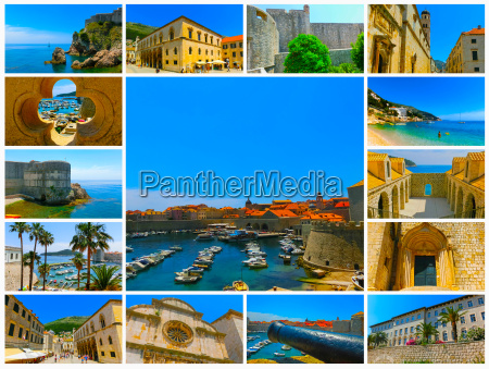 dubrovnik croatia collage from views