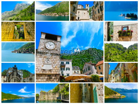 the collage from images of kotor