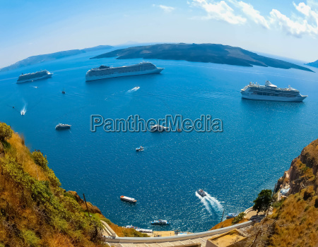 santorini greece the beautiful view