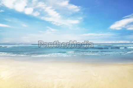 beautiful panorama of seascape with blue