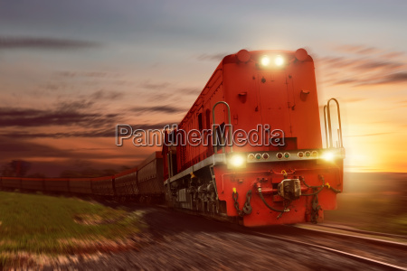 freight train with cargo cars carrying