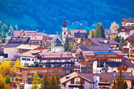 alpine village of san cassiano view