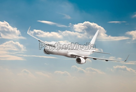 passenger aircraft mid air