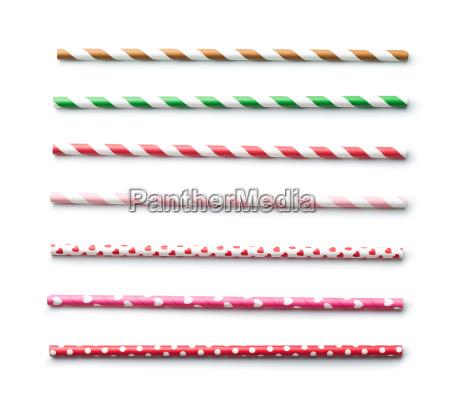 various paper straws
